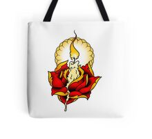 Neotraditional Candle and Rose Tote Bag