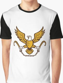 American Eagle Clutching Towing J Hook Retro Graphic T-Shirt