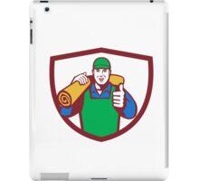 Carpet Layer Carry Mat Thumbs Up Shield Retro iPad Case/Skin