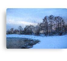 Snowy Beach Impressions Canvas Print