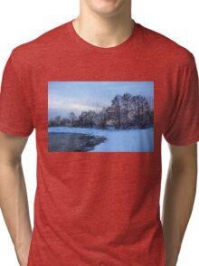 Snowy Beach Impressions Tri-blend T-Shirt