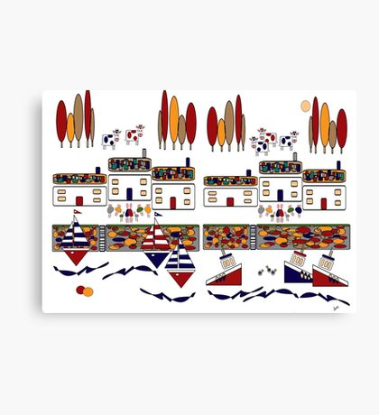 Harbour Canvas Print