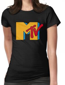 MTV Logo 1 Womens Fitted T-Shirt