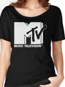 MTV Logo 3 Women's Relaxed Fit T-Shirt