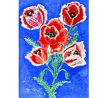 Poppies Bouquet Painting Photographic Print
