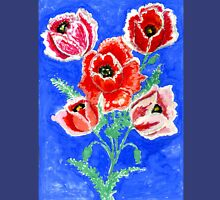 Poppies Bouquet Painting Unisex T-Shirt
