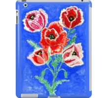 Poppies Bouquet Painting iPad Case/Skin