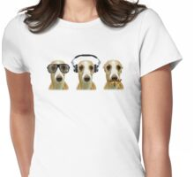 whippet greyhound lurcher Womens Fitted T-Shirt