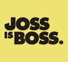 JOSS IS BOSS   BLACK INK Baby Tee