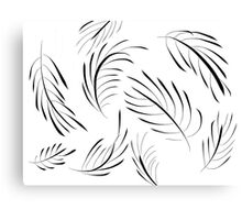 Feather leaves Canvas Print