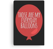 Everyday balloons Canvas Print