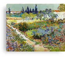 Vincent van Gogh Garden at Arles Canvas Print