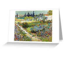 Vincent van Gogh Garden at Arles Greeting Card