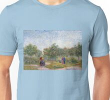 Vincent van Gogh Garden in Montmarte with Lovers Unisex T-Shirt