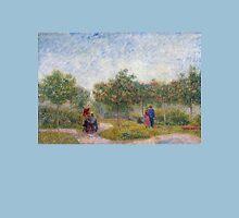 Vincent van Gogh Garden in Montmarte with Lovers Unisex T-Shirt