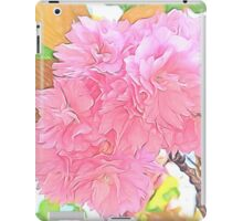 Pink Double Cherry Blossoms ( Pencil Drawing ) iPad Case/Skin