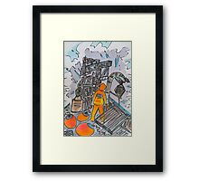 On The Crab Framed Print