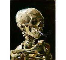Vincent van Gogh Head of a Skeleton with a Burning Cigarette Photographic Print