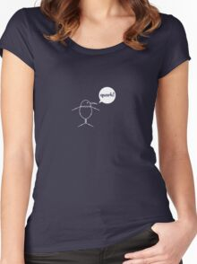 Quantum Penguin Women's Fitted Scoop T-Shirt