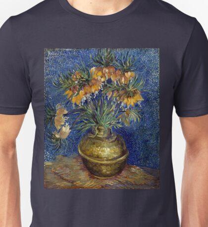 Vincent van Gogh Imperial Fritillaries in a Copper Vase Unisex T-Shirt