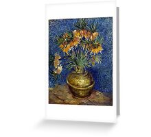 Vincent van Gogh Imperial Fritillaries in a Copper Vase Greeting Card