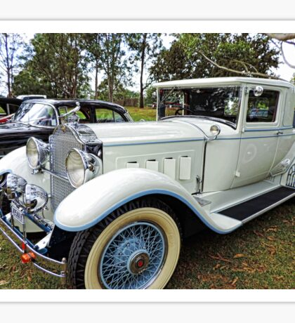 1930's Packard Roadster - White with Blue Trim Sticker