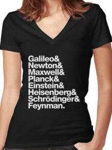 The Physicists List Women's Fitted V-Neck T-Shirt