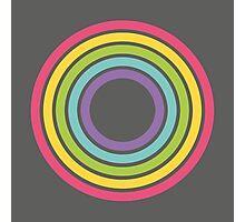 Rainbow Rings Charcoal Photographic Print