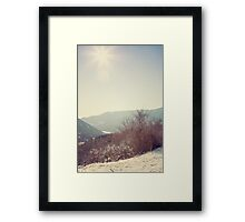Mountains in the background II Framed Print