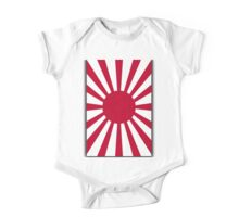 Japanese War flag, Imperial Japanese Army, WWII, WAR, Japan, Japanese, Nippon, Portrait on Black One Piece - Short Sleeve