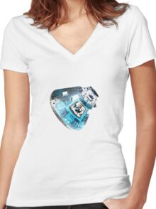 Apollo in Blue Women's Fitted V-Neck T-Shirt