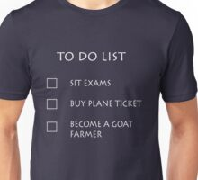 Exam To Do List Unisex T-Shirt
