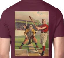 AMERICAN, BASEBALL, SPORT, POSTER, ANTIQUE, BALL, SOFTBALL, Pitch, Pitcher, Sport, Game, Bat and Ball game, on BLACK Unisex T-Shirt