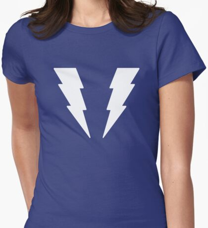 Legion of Super-Heroes; Lightning Lass (white) Womens Fitted T-Shirt
