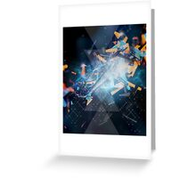 geometric explosion Greeting Card