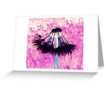 Dandelion lampshade Greeting Card