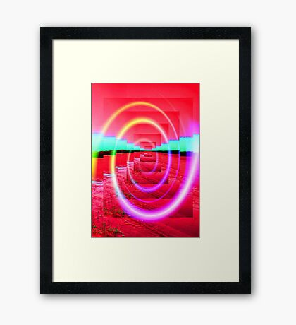 Red Abstract 2 Framed Print