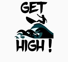 Get High! Surfer Silhouette Unisex T-Shirt