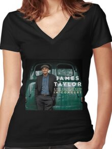 James Taylor in Concert 2016 Women's Fitted V-Neck T-Shirt