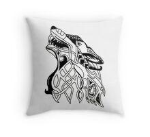 Viking Wolf  Throw Pillow