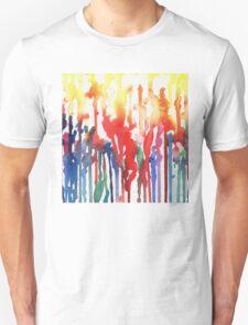 Rainbow Rain Abstract Watercolor T-Shirt