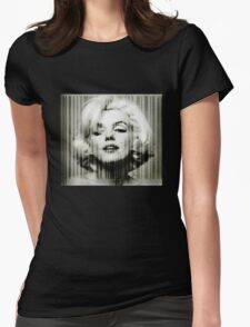 Marilyn Monroe barcode #1 Womens Fitted T-Shirt