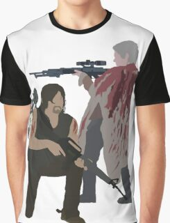 Carol Peletier and Daryl Dixon (Version 2) - The Walking Dead Graphic T-Shirt