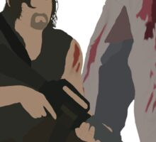 Carol Peletier and Daryl Dixon (Version 2) - The Walking Dead Sticker