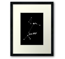 Constellation | Sirius (Canis Major) Framed Print