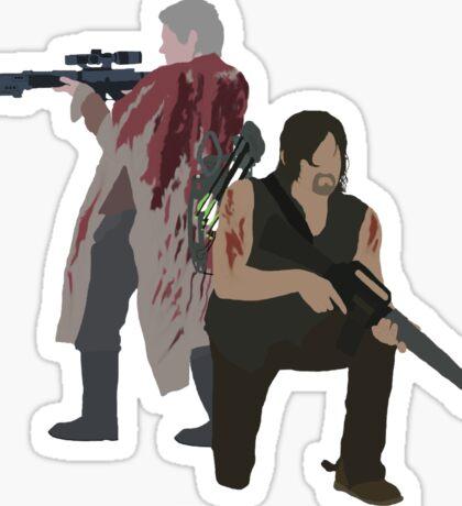 Carol Peletier and Daryl Dixon (Version 1) - The Walking Dead  Sticker