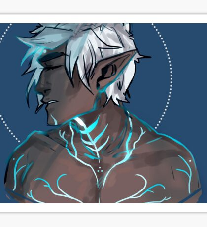 Fenris portrait- dragon age 2 Sticker