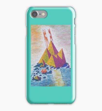 Acrylic Painting - Island Sun Abstract iPhone Case/Skin