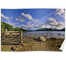 Derwentwater Shoreline at Keswick, Cumbria Poster