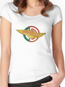 DUCATI MECCANICA VINTAGE LOGO Women's Fitted Scoop T-Shirt